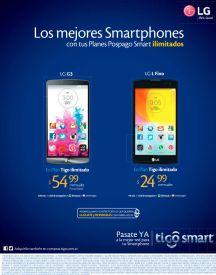 TIGO promociones en telefonos inteligentes LG series