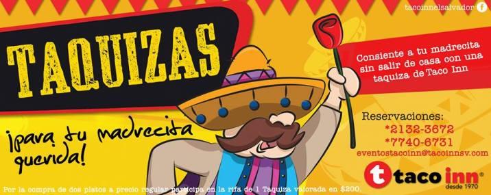 Taco Inn el slavador promocion en TAQUIZAS