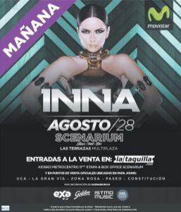 Viernes 28 de agosto MULTIPLAZA las terraza INNA concert