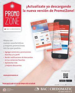 app PROMO zonE las ofertas y promociones credomatic en tu movil