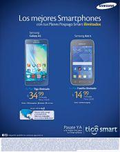 ofertas en telefonos SAMSUNG con planes ilimitados TIGO