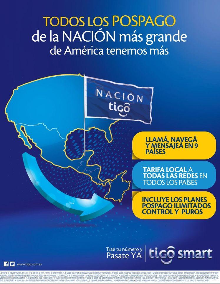 BENEFICIOS de Todos los planes pospago TIGO son parte de una GRAN NACION
