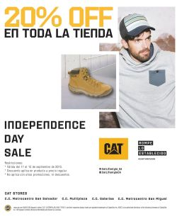CAT shoes discounts independence day SALE