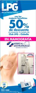 Descuentos en MAMOGRAFIA hospital san francisco SAN MIGUEL