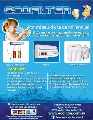 ECOFILTER solucion para sistema de agua purificada