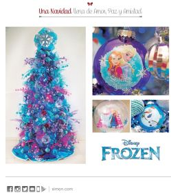 FROZEN decoracion de navidad disponible en SIMAN