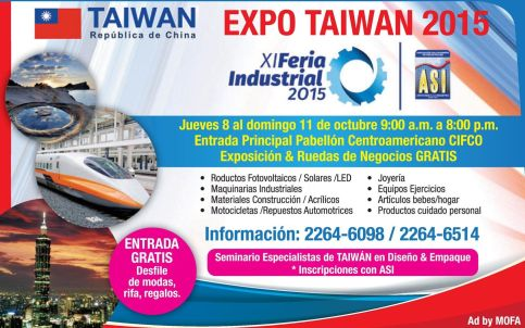 Feria insdustrial 2015 EXPO TAIWAN republica de china