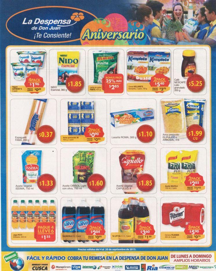 Finde semana con compras del super LA DESPENSA DE DON JUAN - 04sep15