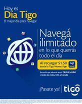 HOY es dia tigo NAVEHA ILIMITADO al recargar desde TIGO MONEY app