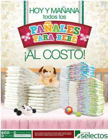 PAMPERS for babies al costo SUPER selectos weekend - 19sep15