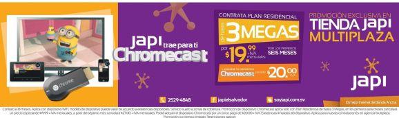 Promocion internet de 3 MB por 19