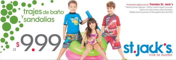 ST JACKS swim suit for kids and sandals 9.99 de dolar