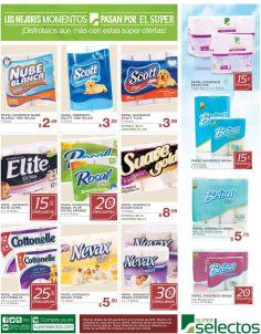 Solo en super selectos papel higienico de todas las marcas en oferta - 30sep15