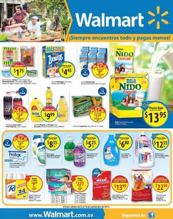 WALMART Aqui estan las ofertas de fin de semana - 04sep15