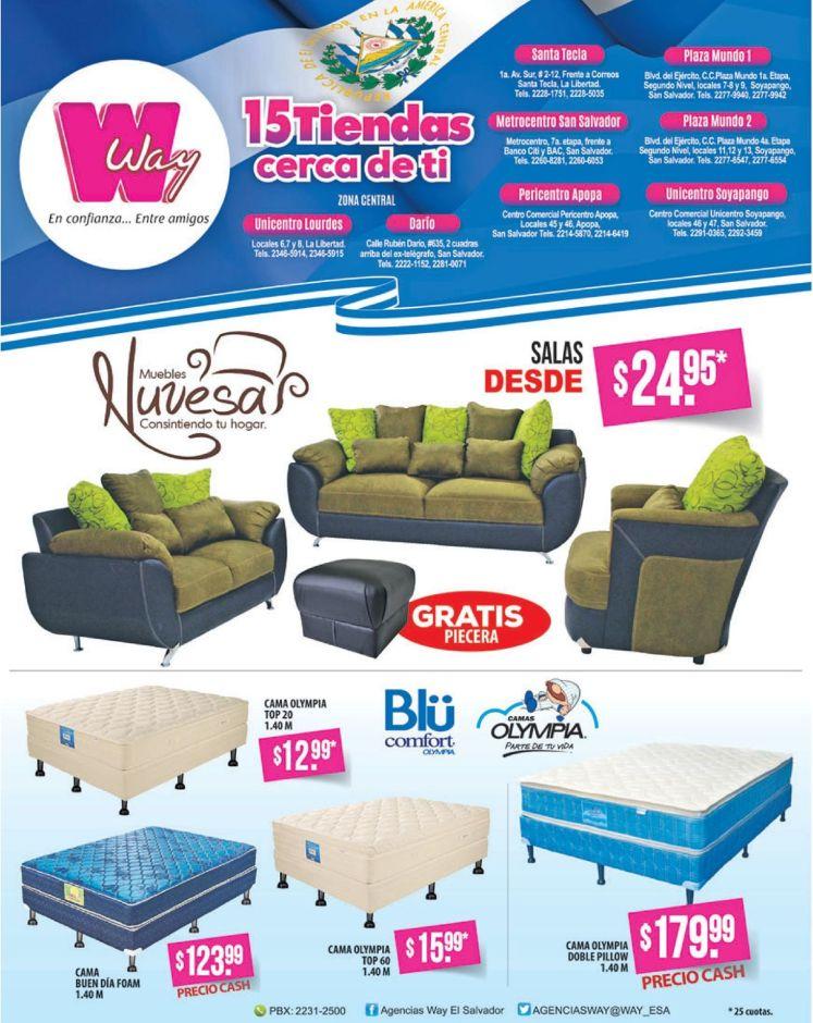 juegos de sala NUVESAS y campas BLU comfort WAY promociones