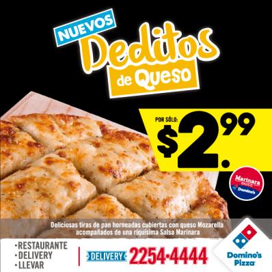 nuevos deditos de QUESO Dominos PIZZA promociones