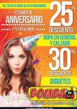 BOMVA almacenes WEEKENS discounts for aniversary - 30oct15