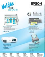 Buscas una impresora de calidad mira la tecnologia EPSON