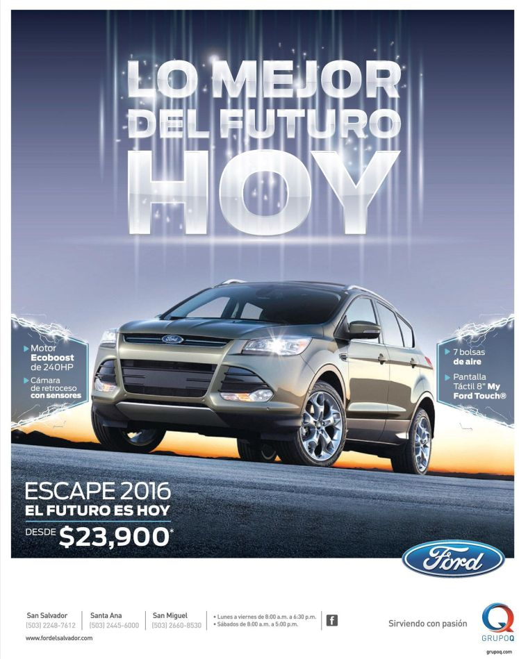 ESCAPE 2015 ford motors suv the futere its today