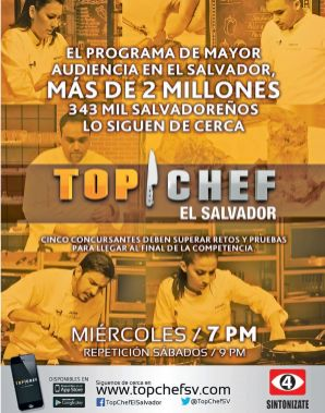 Estas listo para conocer y ver LA FINAL DE TOP CHEF el salvador