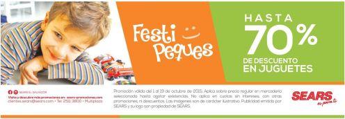 Festi PEQUE jugueste con 70 OFF de descuento gracias a SEARS - 02oct15