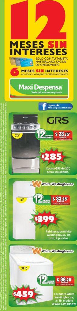 MAXI despensa ofertas en linea blanca WHITE westinghouse