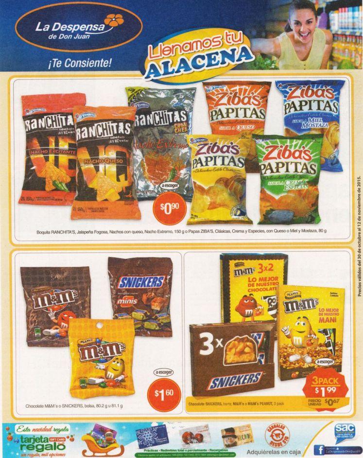 Ofertas en snacks chocolates dulces y boquitas LA DESPENSA de DON JUAN - 30oct15