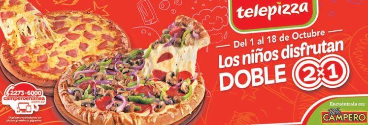Promociones de pizza 2x1 paran nino de telepizza