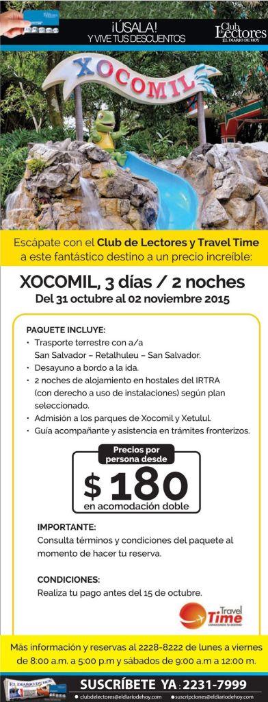 Promociones de vacaciones XOCOMIL guatemala
