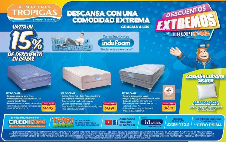SET de cama diferentes estilos y medidas ALMACENES Tropigas - 30oct15