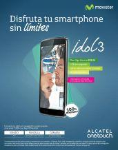 Sin limites idol3 alcatel MOVISTAR plan giga libre desde 24 dolares