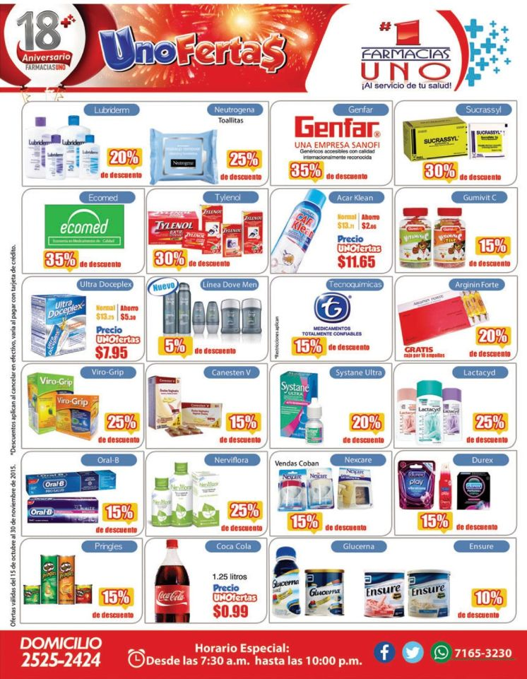 UNO ofertas para las medicinas de la familia