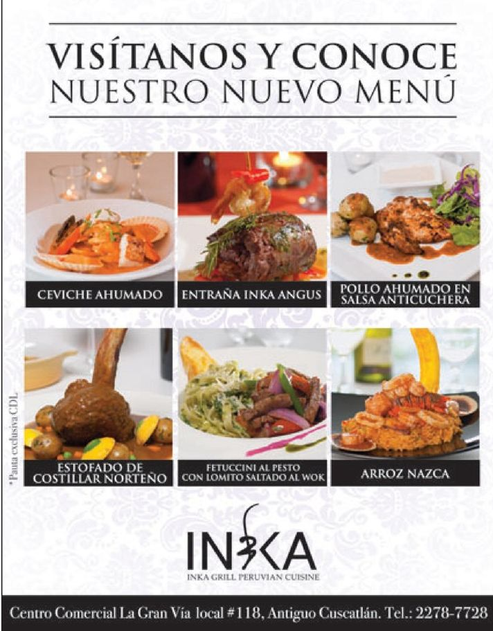 el salvador INKA grill peruvian cusine