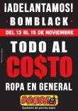 Adelantamos BOMBA BLACK ropa al costo - 13nov15