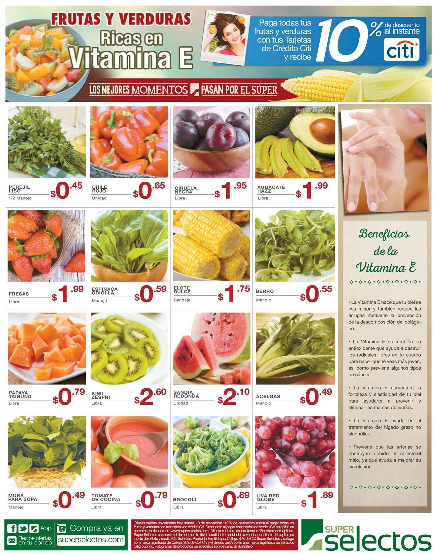 Frutas q tengan vitamina e