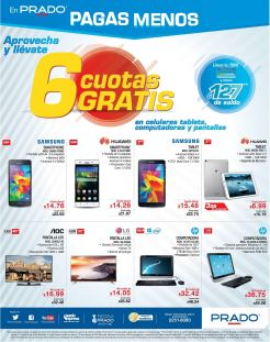 Computers LAPTOPS and tablet con 6 cuotas GRATIS via PRADO el salvador