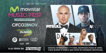 Dont STOP party MOVISTRA music fest present PITBULL and NICKY Jam