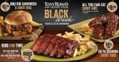 Escoge tu menu BLACK en TONY ROMAS el salvador