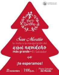 Inauguracion del arbol navideño 2015 mas grande de EL SALVADOR
