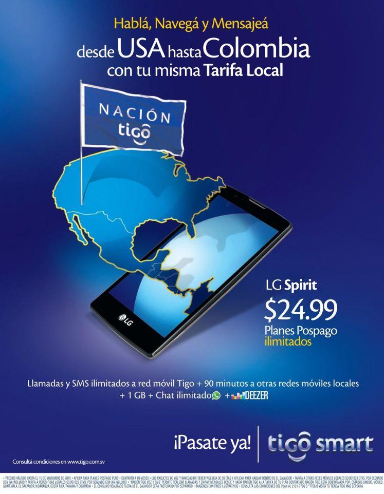 Lg Spirit plan ilimitados by TIGO Nacion