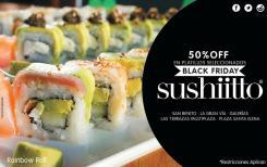 Restaurante SHUSHIITO con 50 OFF black friday 2015