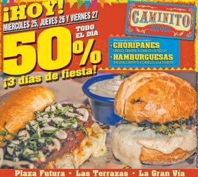 Restaurante caminito chocos 50off black days