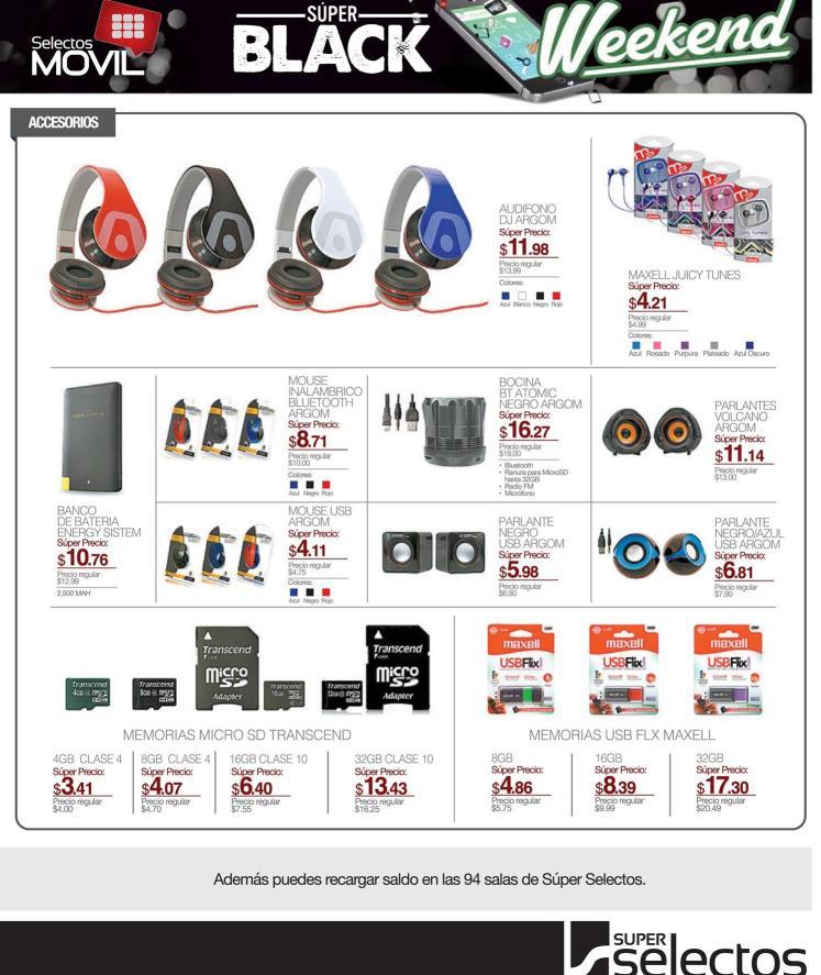 Super selectos ofertas en memorias y audifonos BALCK friday