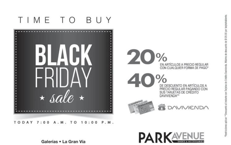 Time to buy LADIES blackfriday sale Park Avenue