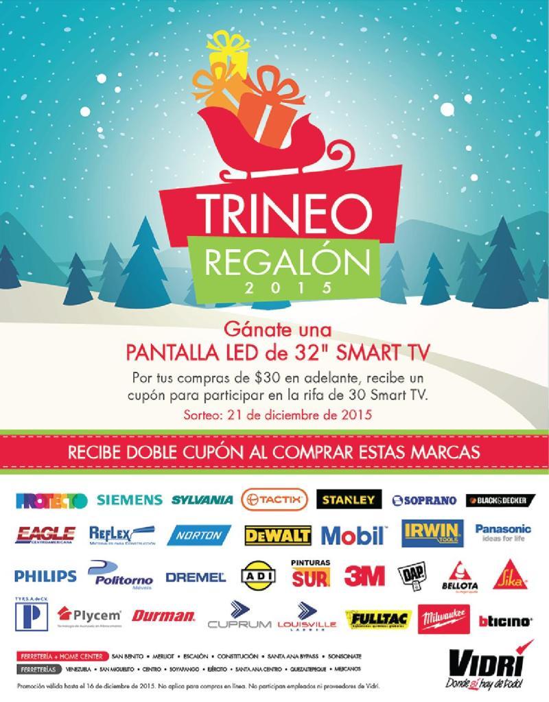 Trineo Regalon 2015 ferreteria VIDRI el salvador