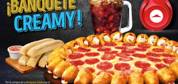 banquete CREAMY de pizza hut con 25 OFF