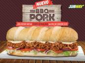 nuevo SUBWAY BBQ PORK cerdo deshilado con salsa barbacoa