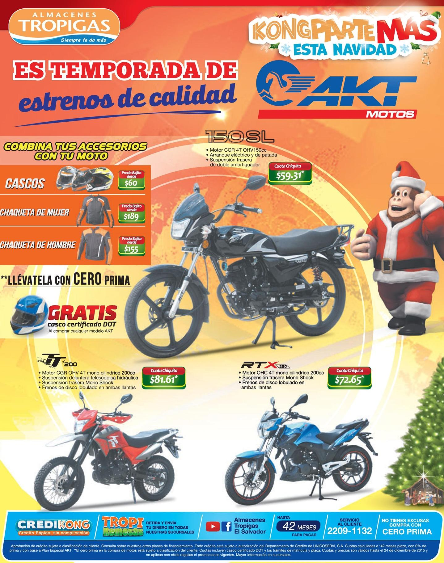 AKT motos holidays promotions for all models