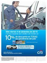 Ahora viernes 10 OFF en gasolina en todo el pasi via CITI
