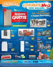 Almacenes tropigas te da un ROPERO gratis por tus compras de navidad